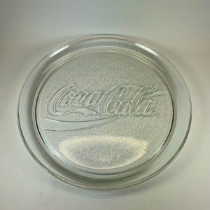 Vintage Coca-Cola Tray clear glass